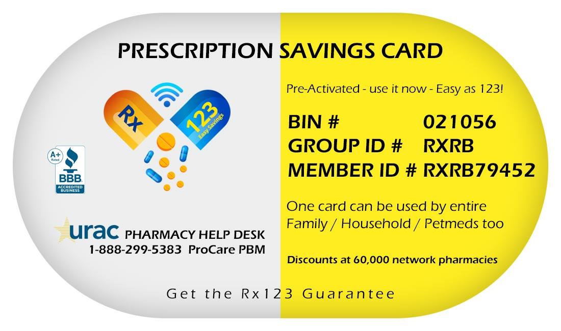 rx123 prescription savings card